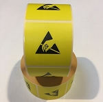 ESD Warning Label 50 x 50mm Self adhesive