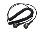 Black Coiled Cord 10 mm - 10 mm Stud 1.8 Mts