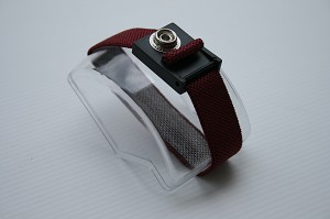 Fabric Premium Burgundy Wrist Band with a 10 mm Stud