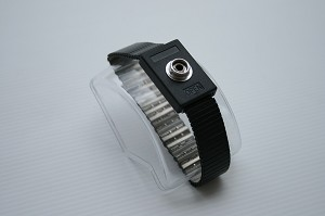 Stainless Steel Black Adjustable Wrist Band with a 10 mm Stud