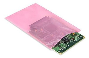 "Pink Antistatic Bag - Open Top 12"" x 16"" (305 x 406)"
