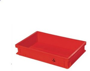 RED Static Dissipative Container 600 x 400 x 220mm
